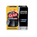 30 Gal. GLAD Large Drawstring Trash Bags w ForceFlex PLUS, Black