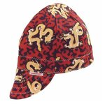 Size 7.5 Assorted Print Deep Round Crown Cap
