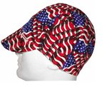 Stars & Stripes Soft Brim Fitted Welders Cap, One Size