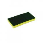 Yellow and Green, Medium-Duty Sponge N' Scrubber-3.375 x 6.25