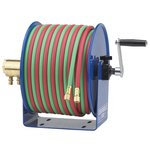 "1/4""X50' Low Pressure Twin-Line Welding Hose Reel"