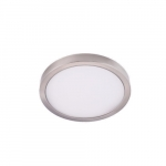 "8"" 14W LED Round Ceiling Light, Dimmable, 720 lm, 3000K, Nickel Satin"