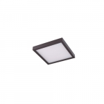 "8"" 14W LED Square Ceiling Light, Dimmable, 720 lm, 3000K, Bronze"