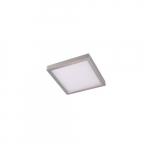 "8"" 14W LED Square Ceiling Light, Dimmable, 720 lm, 3000K, Nickel Satin"