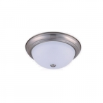 11-in 15W LED Ceiling Light, Dimmable, 850 lm, 120V, 3000K, Nickel Satin