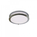 "12"" 15W LED Ceiling Light, Dimmable, 950 lm, 3000K, Nickel Satin"