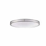 "32"" 35W LED Round Ceiling Light, Dimmable, 2500 lm, 4000K, Nickel Satin"