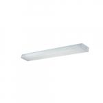 4-ft 36W LED Wrap Light, 3200 lm, 120V-277V, 4000K, White