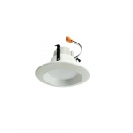 "4"" 10W LED Baffled Recessed Can Retrofit Kit, Tunable, 60W Inc. Retrofit, Dim, 5000K"