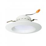 "4"" 10W LED Baffled Recessed Can Retrofit Kit, 60W Inc. Retrofit, Dim, 700 lm, 4000K"