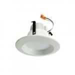 "4"" 10W LED Baffled Recessed Can Retrofit Kit, 60W Inc. Retrofit, Dim, 700 lm, 5000K"