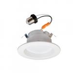 "4"" 10W LED Recessed Can Retrofit Kit, 60W Inc. Retrofit, E26, 700 lm, 2700K, 4 Pack"