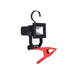 10W Clamp Work Light w/ 5' Cord, 800 lm, 5000K, Red
