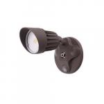 10W LED Single Head Security Light, 820 lm, 5000K, Bronze