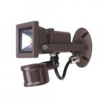 10W Security Flood Light w/ Motion Sensor & Photocell, 700 lm, 5000K, Bronze