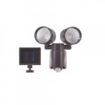 6W LED Solar Security Light w/ Motion Sensor, 560 lm, 6500K, Bronze