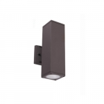 24W LED Square Wall Sconce, 2100 lm, 3000K, Bronze
