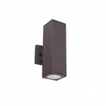 24W LED Square Wall Sconce, 2100 lm, 5000K, Bronze
