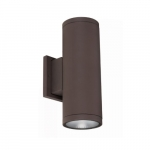 30W LED Cylinder Wall Sconce, 2000 lm, 5000K, Bronze