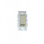 150W Rocker Switch w/ Slide Dimmer, Single Pole/3-Way, 18 AWG, Ivory