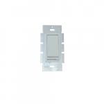 150W Rocker Switch w/ Slide Dimmer, Single Pole/3-Way, 18 AWG, White