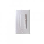 150W Rocker Switch w/ Slide Dimmer, Single Pole/3-Way, 18 AWG, White, 3 Pack