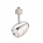 9W LED Bullet Head Track Light, 60W Retrofit, Dimmable, 600 lm, 3000K, Nickel Satin
