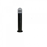 20W Round LED Bollard Pathway Light, 3000K, Black