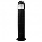 20W Round LED Bollard Pathway Light w/ Closed Top, 3000K, Black