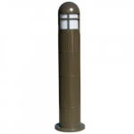 20W Round LED Bollard Pathway Light w/ Closed Top, 3000K, Bronze