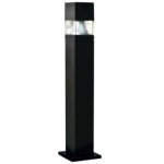 20W Square LED Bollard Pathway Light, 3000K, Black