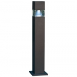 20W Square LED Bollard Pathway Light, 3000K, Bronze