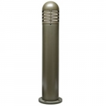 20W Round Louvered Down LED Bollard Pathway Light, 3000K, Bronze