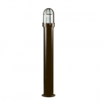 20W Slim Round LED Bollard Pathway Light, Steel, 3000K, Bronze