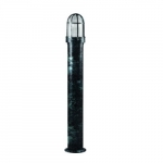 20W Slim Round LED Bollard Pathway Light, Steel, 3000K, Green