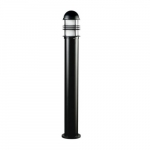 20W Slim Round LED Bollard Pathway Light, Aluminum, 3000K, Black