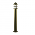 20W Slim Round LED Bollard Pathway Light, Aluminum, 3000K, Bronze