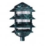 "11W 6"" 4-Tier LED Pagoda Pathway Light w/ 1/2"" Base, 3000K, Verde Green"
