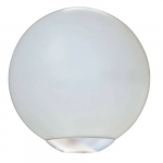 "16W 16"" Outdoor LED Globe Post Light, 3000K, White"