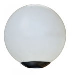 "16W 18"" Outdoor LED Globe Post Light, 3000K, Black"