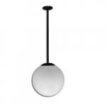 "16W 18"" Outdoor LED Globe Post Light w/ 12"" Stem, 3000K, Black"