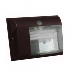 5W Cutoff LED Wall Pack, 3000K, Bronze, 2 Pack
