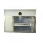 5W Cutoff LED Wall Pack, 3000K, White, 2 Pack
