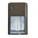 11W Cutoff LED Wall Pack, 3000K, Bronze
