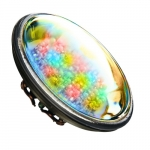 4W LED PAR36 Bulb, Multicolor LED, G53 Base, 12V, 6400K, Bronze