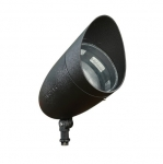 18W 13-in LED Directional Spot Light w/Hood, Flood, PAR38 Bulb, 6400K, Black