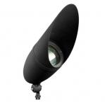 12W 20-in LED Directional Spot Light w/Hood, Flood, PAR38 Bulb, 6400K, Black