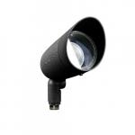 7W Hooded LED PAR 20 Spot Light, 6000K, Black