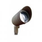 7W Hooded LED PAR 20 Spot Light, 3000K, Bronze