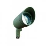 7W Hooded LED PAR 20 Spot Light, 3000K, Green